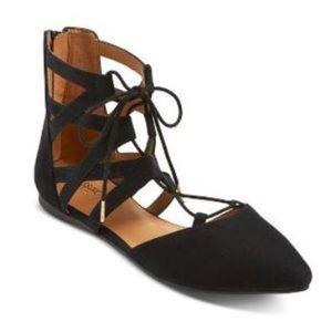 Ballet Black Flats lace up
